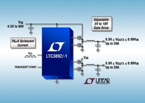 Dual output regulator from Linear Tech
