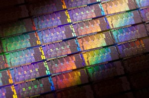 "Intel 2nd Generation Core microprocessor wafer codenamed ""Sandy Bridge"""