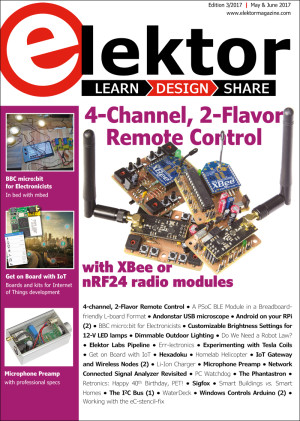 Edition 3/2017 of Elektor is now available!