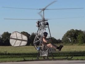 Bemannter Elektro-Helikopter hebt ab