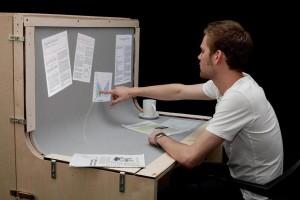 Bureau écran tactile clavier tout en un