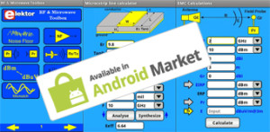 Nouvelle Toolbox Elektor : applications HF et micro-ondes pour Android