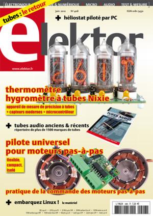 Tubes et moteurs pas à pas au sommaire d'Elektor de juin