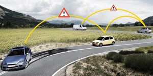 Intelligent cars alert each other to hazards