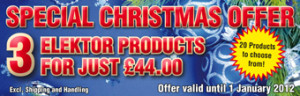 Christmas Shopping @ Elektor: buy three products for just £44