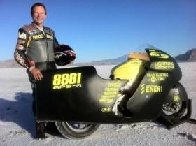 Electric motorcycle breaks 200 mph barrier