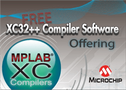 Free C++ Compiler for PIC32