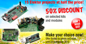 Out with a Bang: 15 Elektor Projects at Half the Price!