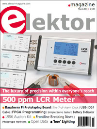 Elektor March 2013 Edition On Sale Now