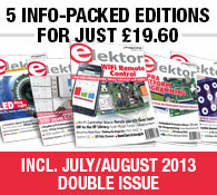 Five Info-Packed Editions of Elektor Magazine For Just £19.60
