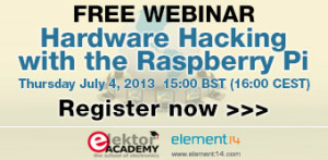 Join Our Hardware Hacking with the Raspberry Pi Webinar