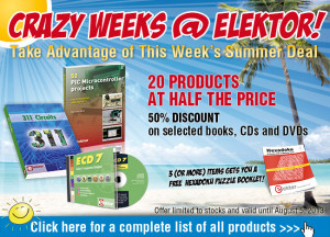 Summer Deal: 20 Elektor Bestsellers at Half the Price