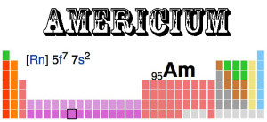 The radio active element americium