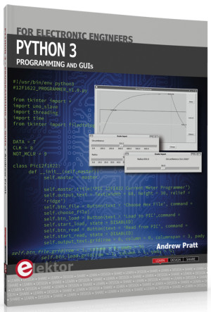 New book in the Elektor Store: Python 3 Programming and GUIs