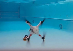 Loon Copter: drone for both above and below the water