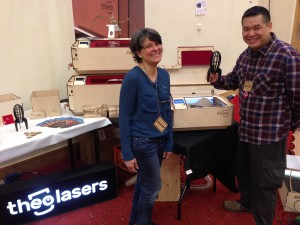 Theo Lasers @ Maker Faire UK 2016
