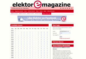 The complete Elektor 1990 - present day archive now available for GREEN and GOLD members