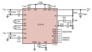 Dual Input Regulator Switches to Backup