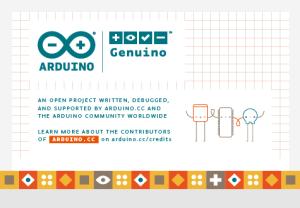 The new splash screen shows Arduino & Genuino hand in hand...