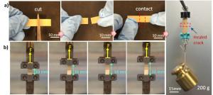 Self-healing electronics material