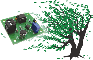 Figure 2: the small circuit board that was designed for the wind speed meter.