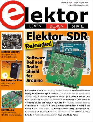 Edition 4/2016 of Elektor Magazine now available