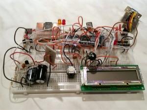 2-channel NMEA data logger - Prototype on breadboard