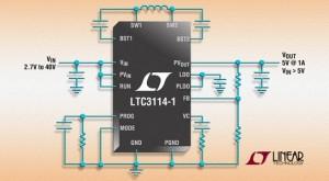 Up/Down-Konverter zwischen 2,7 V und 40 V