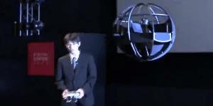 Fliegender Ball mit einem einzigen innenliegenden Propeller