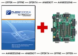 AKTION: Flowcode 4 für PIC (Pro-Version) bis Dienstag, 31.05. bestellen und Entwicklungsb