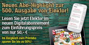 GROSSE JUBILÄUMS-AKTION:Elektor im neuen Digitalabo für nur 50&nb