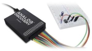 USB-Zweikanaloszilloskop, -Funktionsgenerator und Logikanalyser in einem Gerät