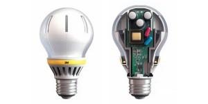 LED-Lampe mit Lichtleitern