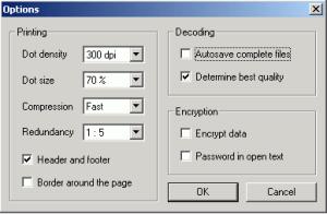 Software speichert Daten auf Papier