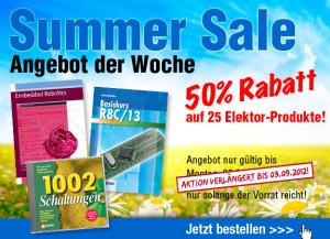 ANGEBOT DER WOCHE: 50% Rabatt auf 25 Elektor-Produkte