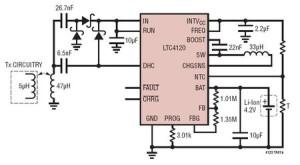 LTC4120: Drahtloser 400-mA-Energieempfänger