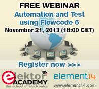 Kostenloses Webinar: Automation & Test using Flowcode 6
