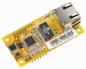 Ethernet-Controller-Modul WIZ55io geht ab