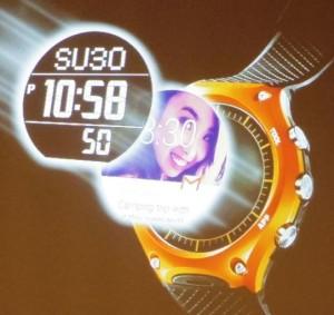 Sparsame Smart-Watch mit zweilagigem LCD