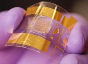 Fortschrittlicher flexibler BiCMOS-Transistor, entwickelt an der UW-Madison (Foto: Jung-Hun Seo/University of Buffalo, State University of New York).