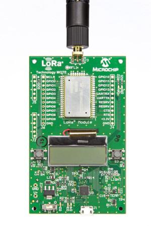 Batteriebetriebenes LoRa-Evalboard.