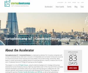 Internet of Things Accelerator-Programm für Startups