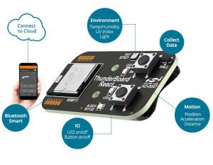 IoT-Board mit vielen Sensoren und Bluetooth LE