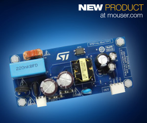 The ST STEVAL-ISA175V1 evaluation board includes an onboard VIPer26HD IC with an 800V avalanche ruggedness power MOSFET.