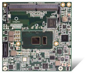 Die neuen COM Express Compact Module von congatec mit Intel® Core™ Prozessoren der sechsten Generation (Codename Skylake) sind für die Auslegung komplett geschlossener, lüfterloser Systeme auf maximal 15 Watt konfigurierbare TDP optimiert.