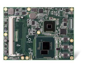 Congatec COM Express Basic Module mit 14 nm Intel® Xeon® Prozessoren und Intel® Iris™ Pro Grafik