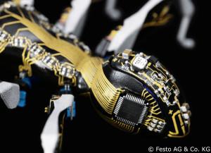 Die Körper und Beine der BionicANTs von Festo wurden im 3D-Druck hergestellt. Durch den LPKF ProtoPaint LDS-Lack lassen sich elektronische Komponenten und Leiterbahnen direkt auf der Außenhaut unterbringen (© Festo AG & Co. KG).