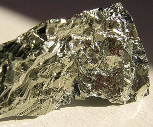 Elementares Germanium. Bild: Gibe/Wikipedia