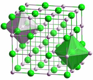 Kristallstruktur von Tantalcarbid. Bild: Solid State / Wikipedia