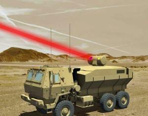 Rendering einer auf ein militärisches Gefährt montierten 60-kW-Laserwaffe für die US-Streitkräfte. Bild: Lockheed Martin